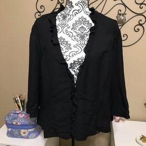 Lane Bryant Ruffle Linen Blend Jacket 20